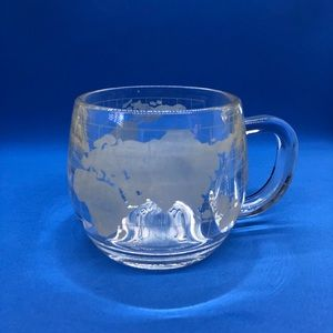 VINTAGE 1970s GLASS MUG from Nestle Co. Inc. Clear